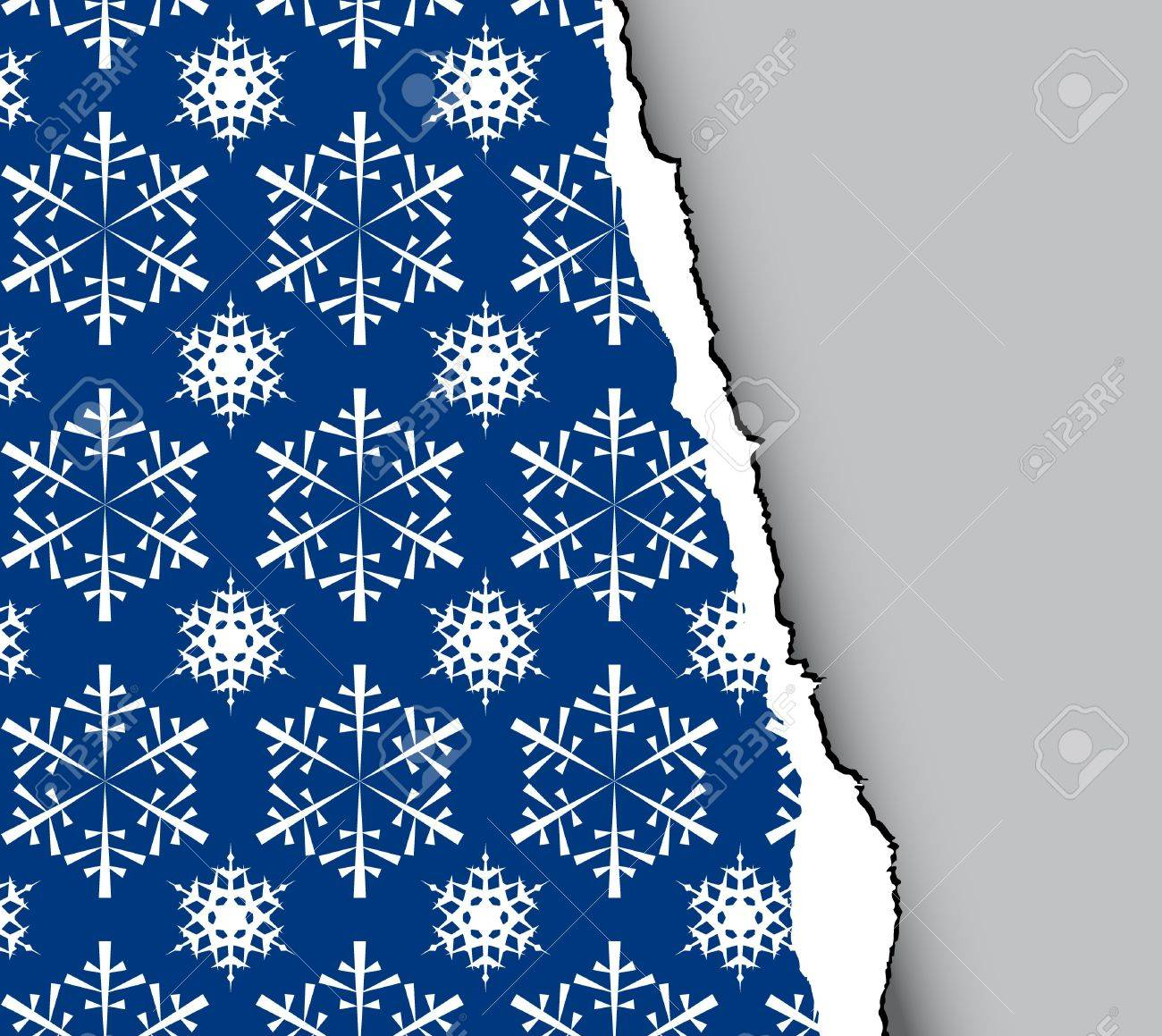 Blue winter - christmas tear paper Stock Photo - 3698666