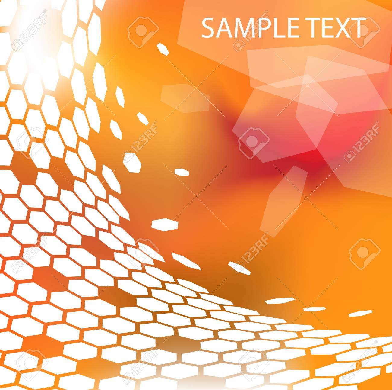 Trendy modern technical background with hexagons Stock Photo - 4423866