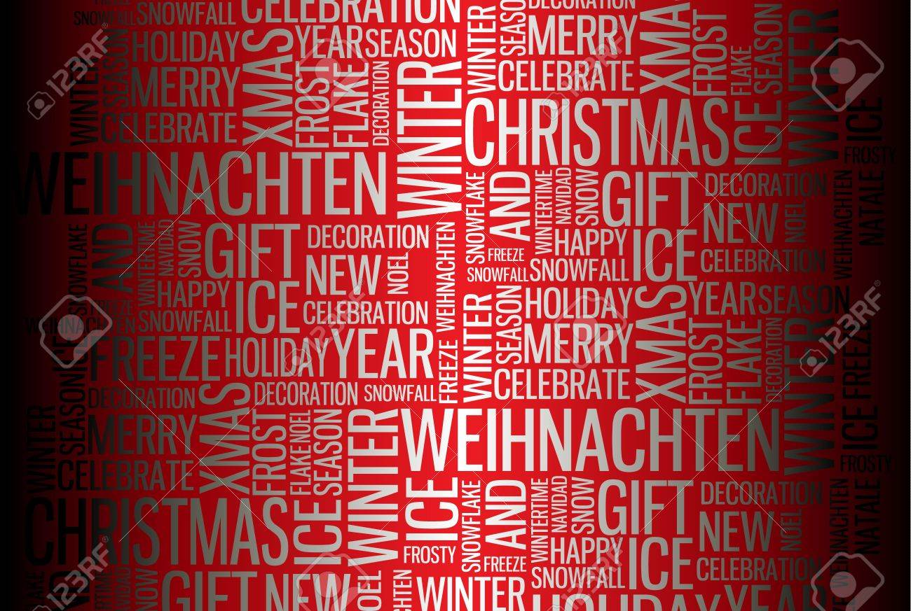 Abstract Christmas Card Season Words On Red Photo Picture – Words for Christmas Card