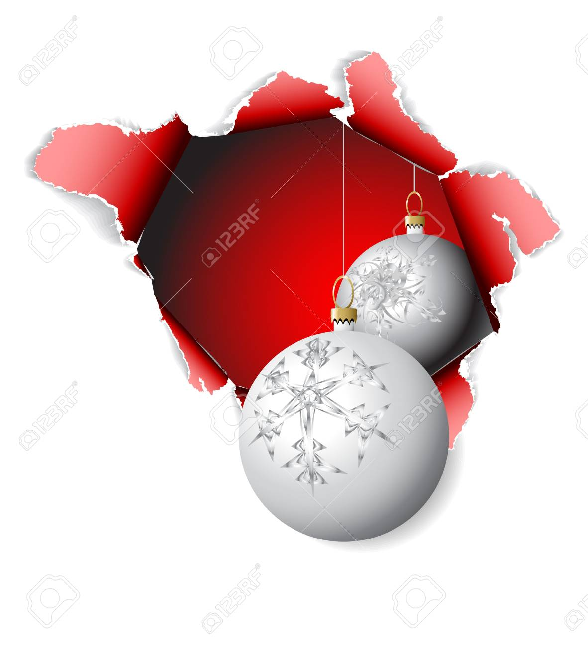 Hole into Christmas time - design for the christmas card Stock Photo - 5740592