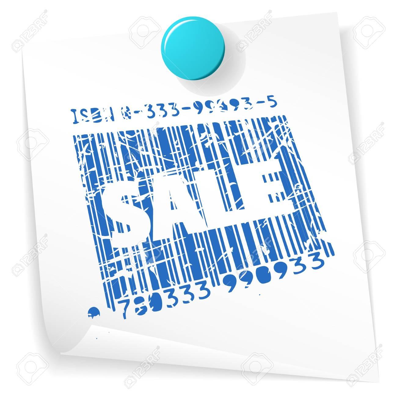 Paper sale ticket - grunge sale stamp on white Stock Photo - 5952503