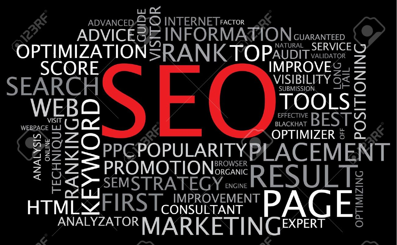 Poster design keywords - Keywords Seo Search Engine Optimization Poster On Black Background