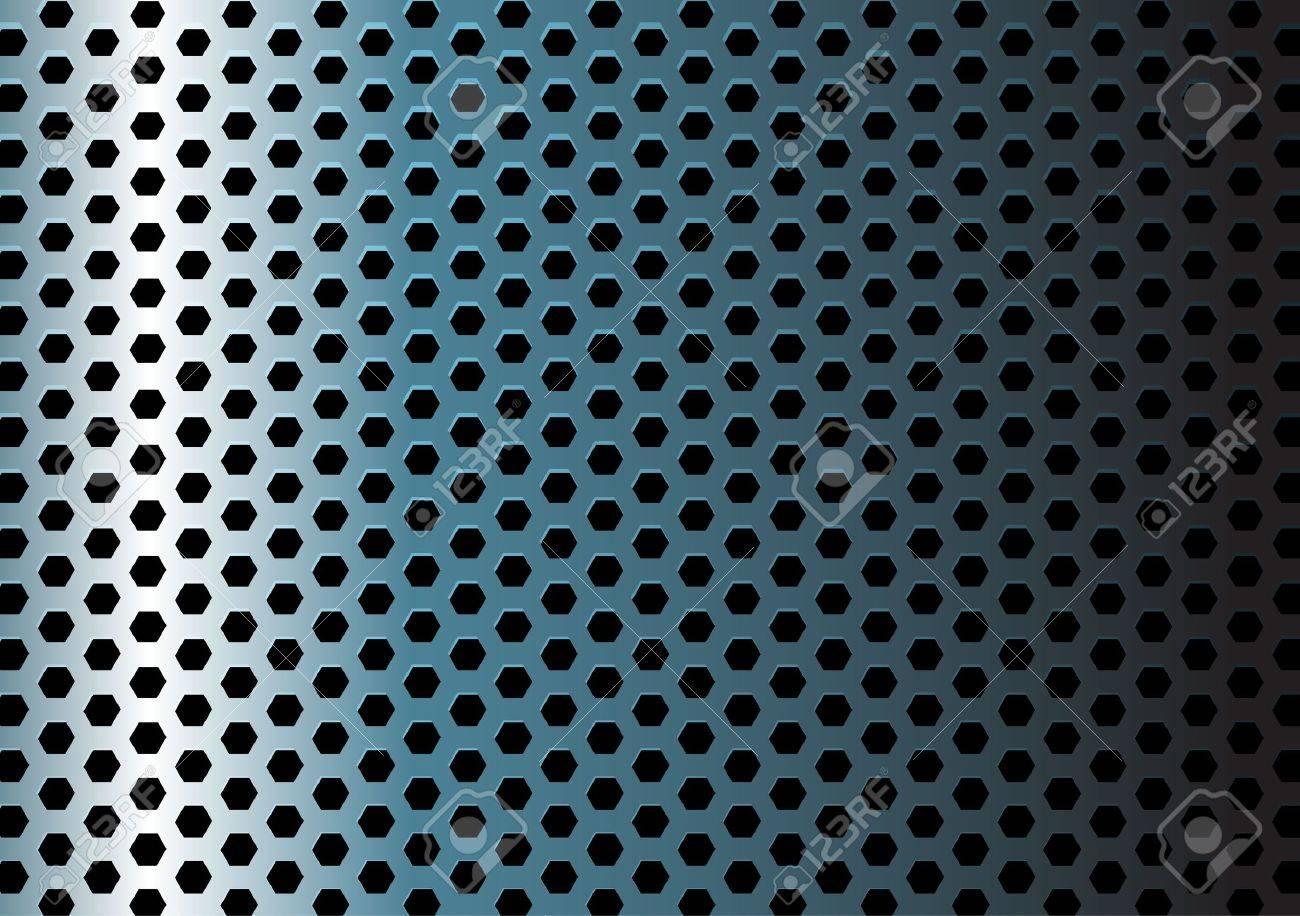 Metal texture / pattern with hexagon holes Stock Vector - 6696702