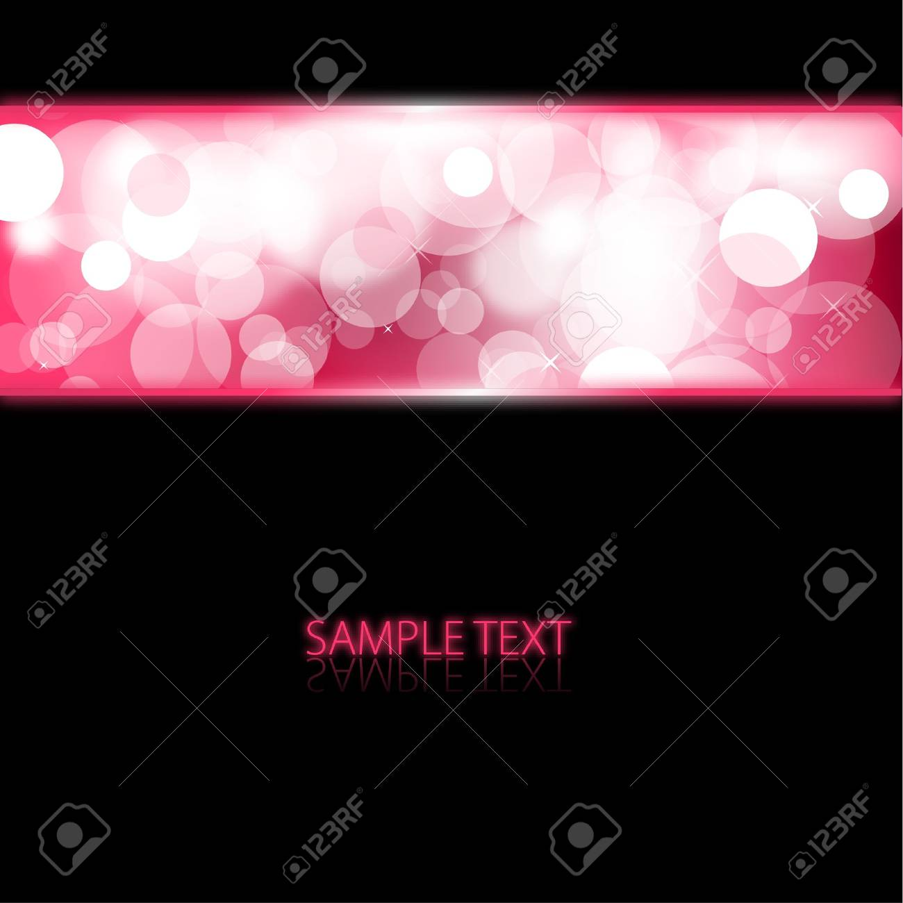 Black abstract background with pink glowing lights Stock Photo - 6881168