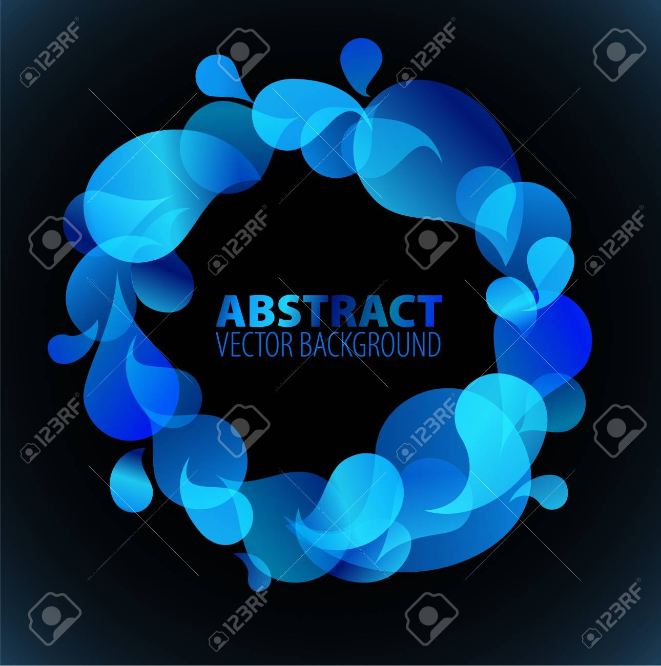 Abstract blue background with place for your text Stock Vector - 7287210