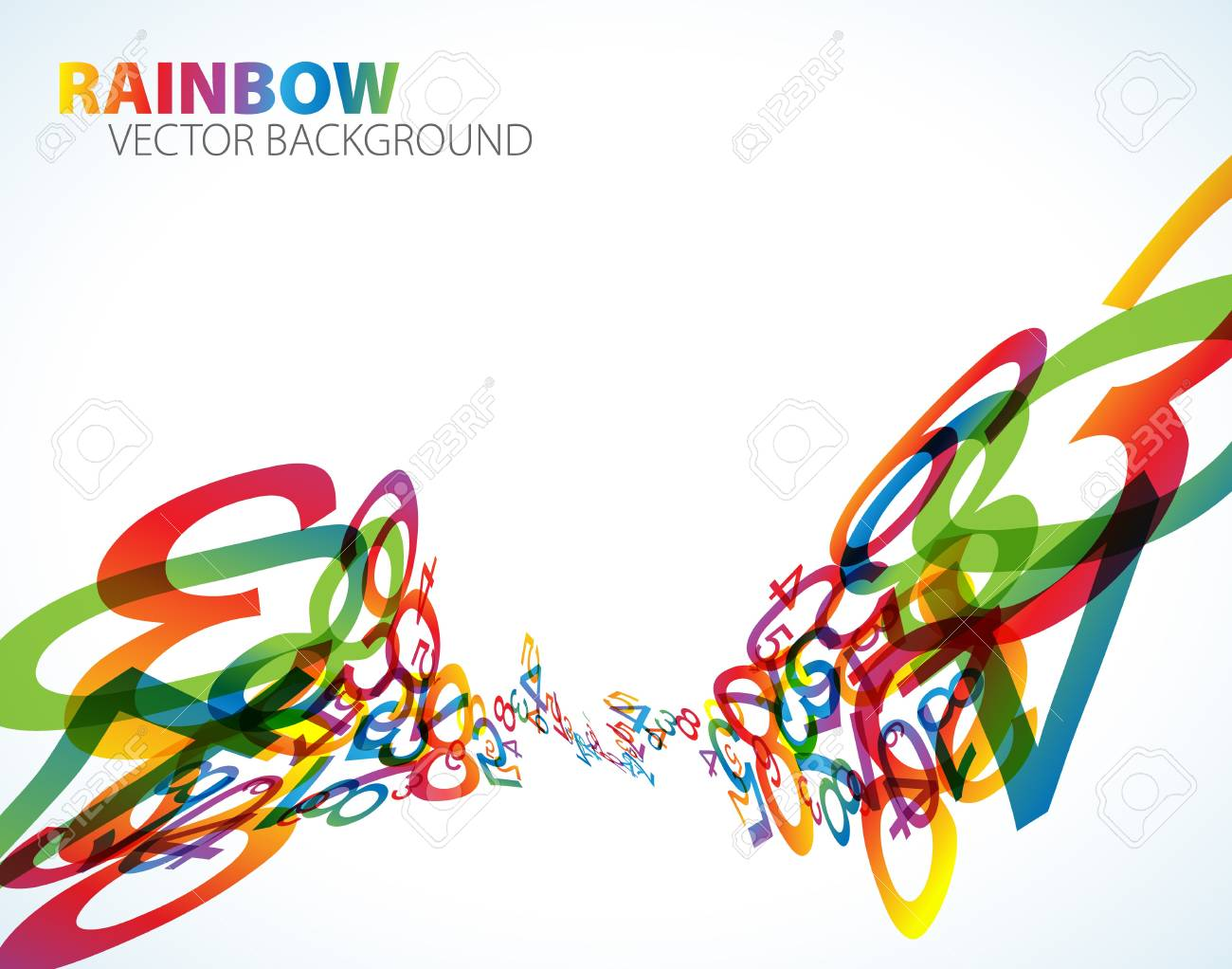 Abstract background with colorful rainbow numbers Stock Photo - 7913569