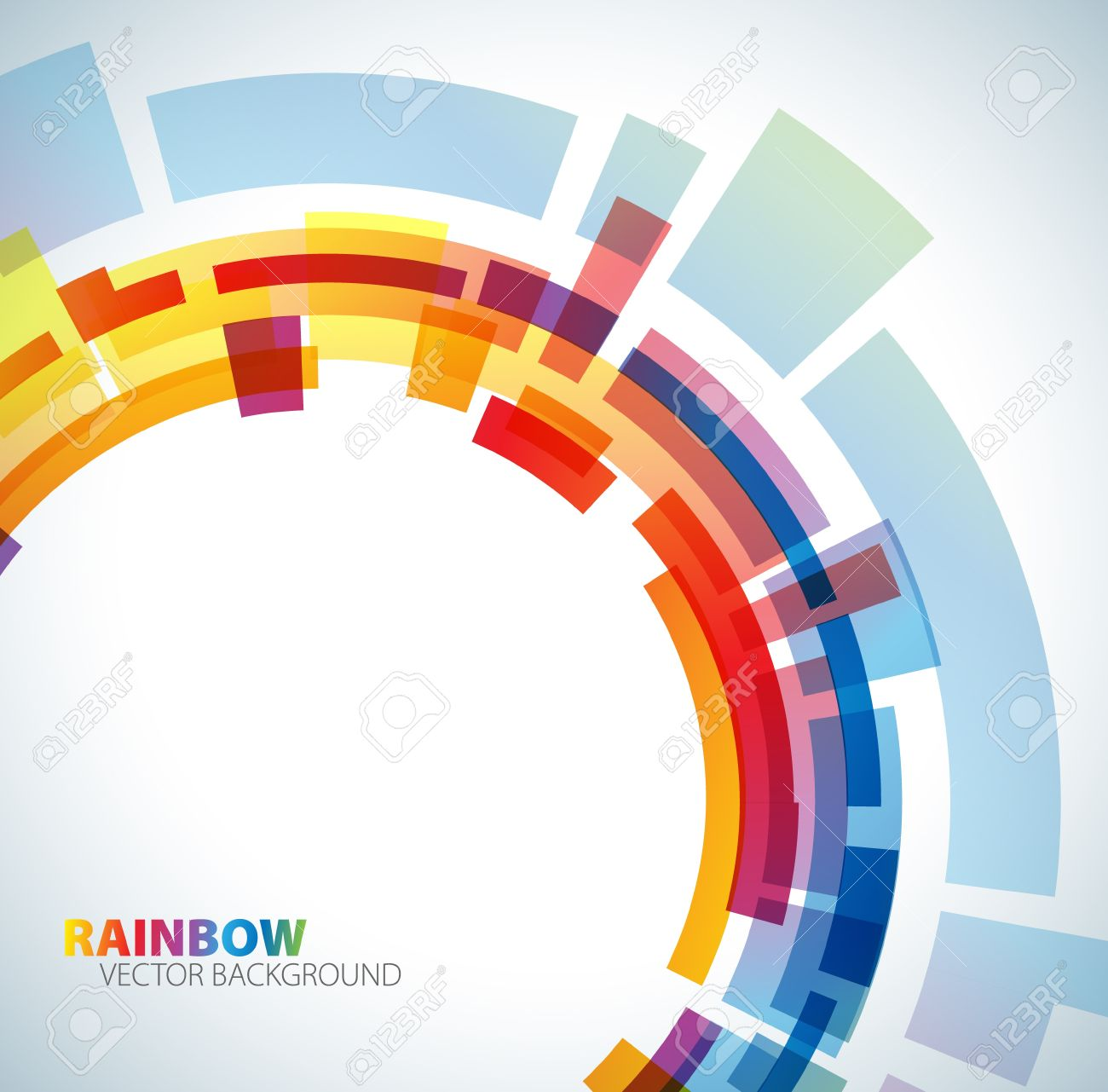 Abstract background with rainbow colors - 8415361