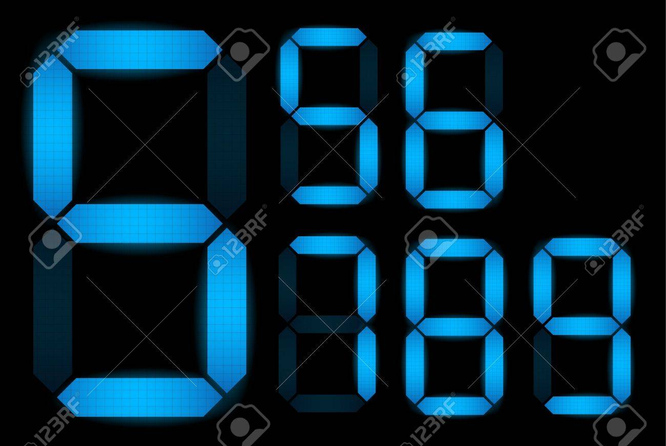 Set of digital numbers - check my portfolio for other numbers from the set Stock Vector - 9250578