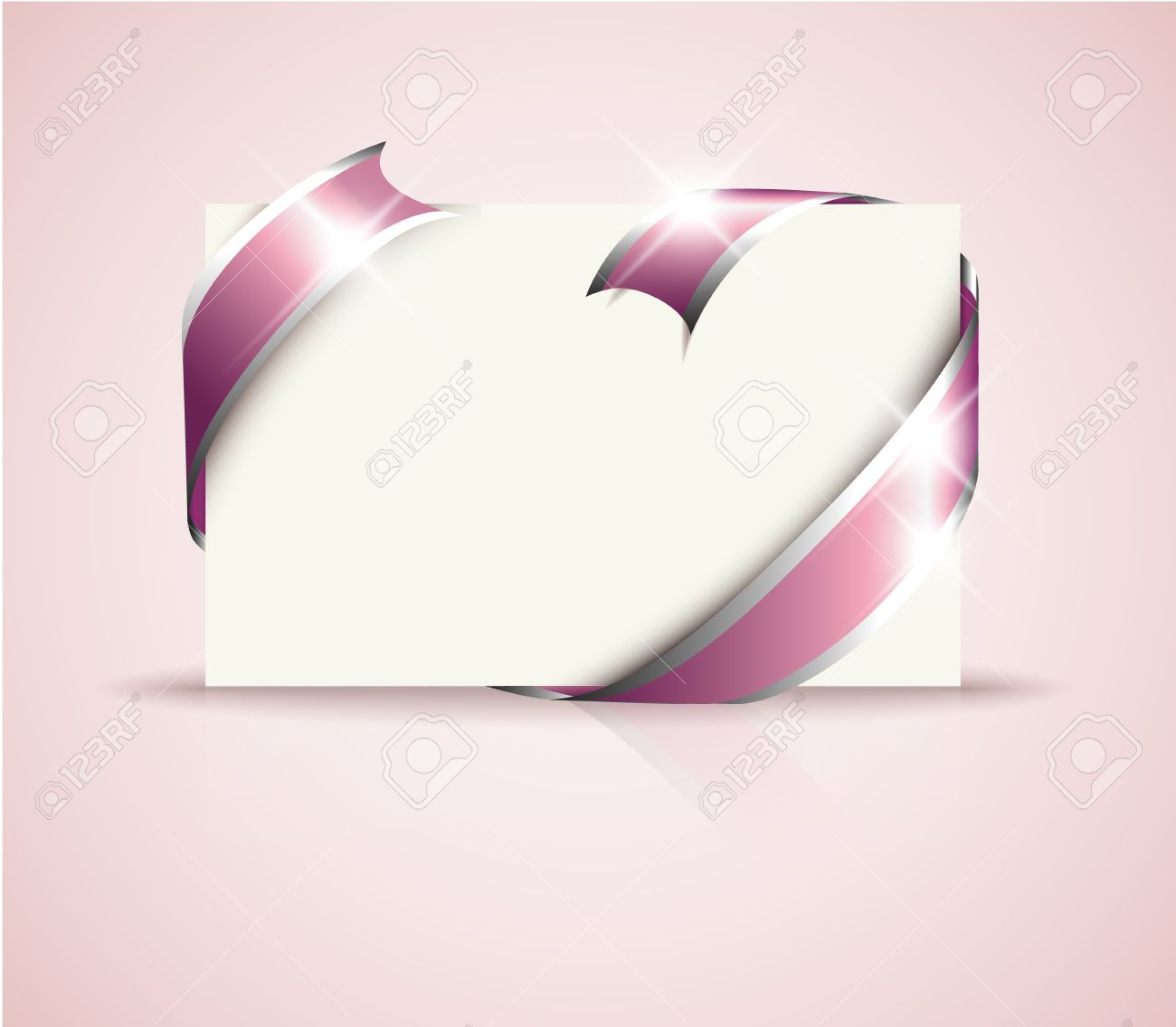 wedding card pink around blank white paper where you should vector wedding card pink around blank white paper where you should write your text