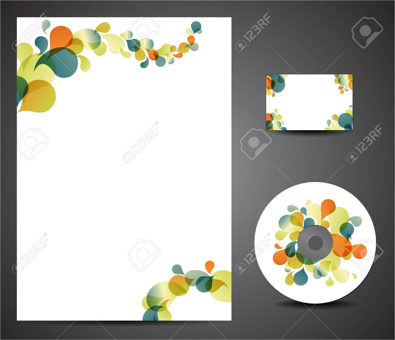 Retro Design Template Set Business Card Cd Paper Royalty Free – Paper Design Template