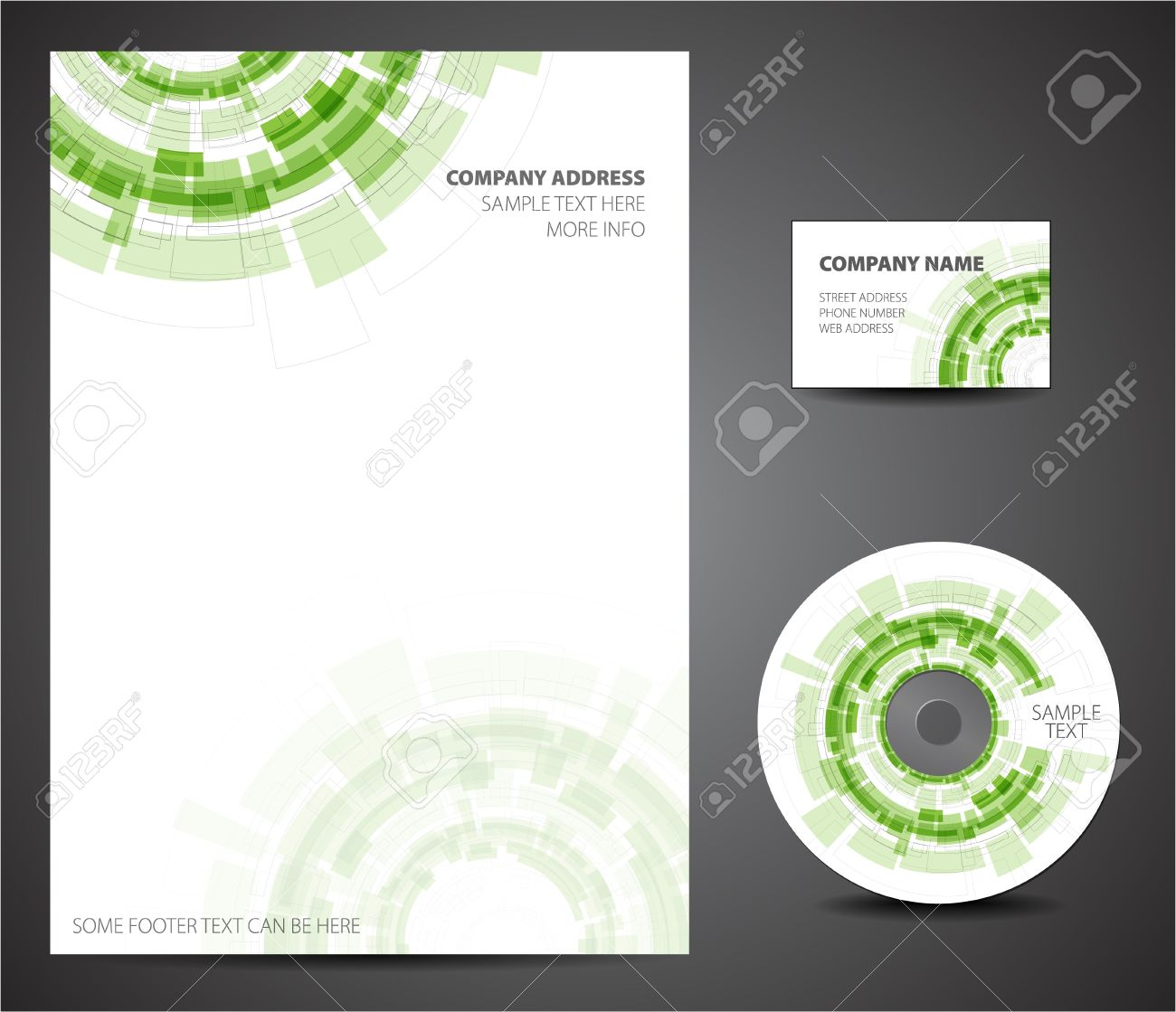 Design Template Set Business Card Cd Paper Royalty Free – Paper Design Template