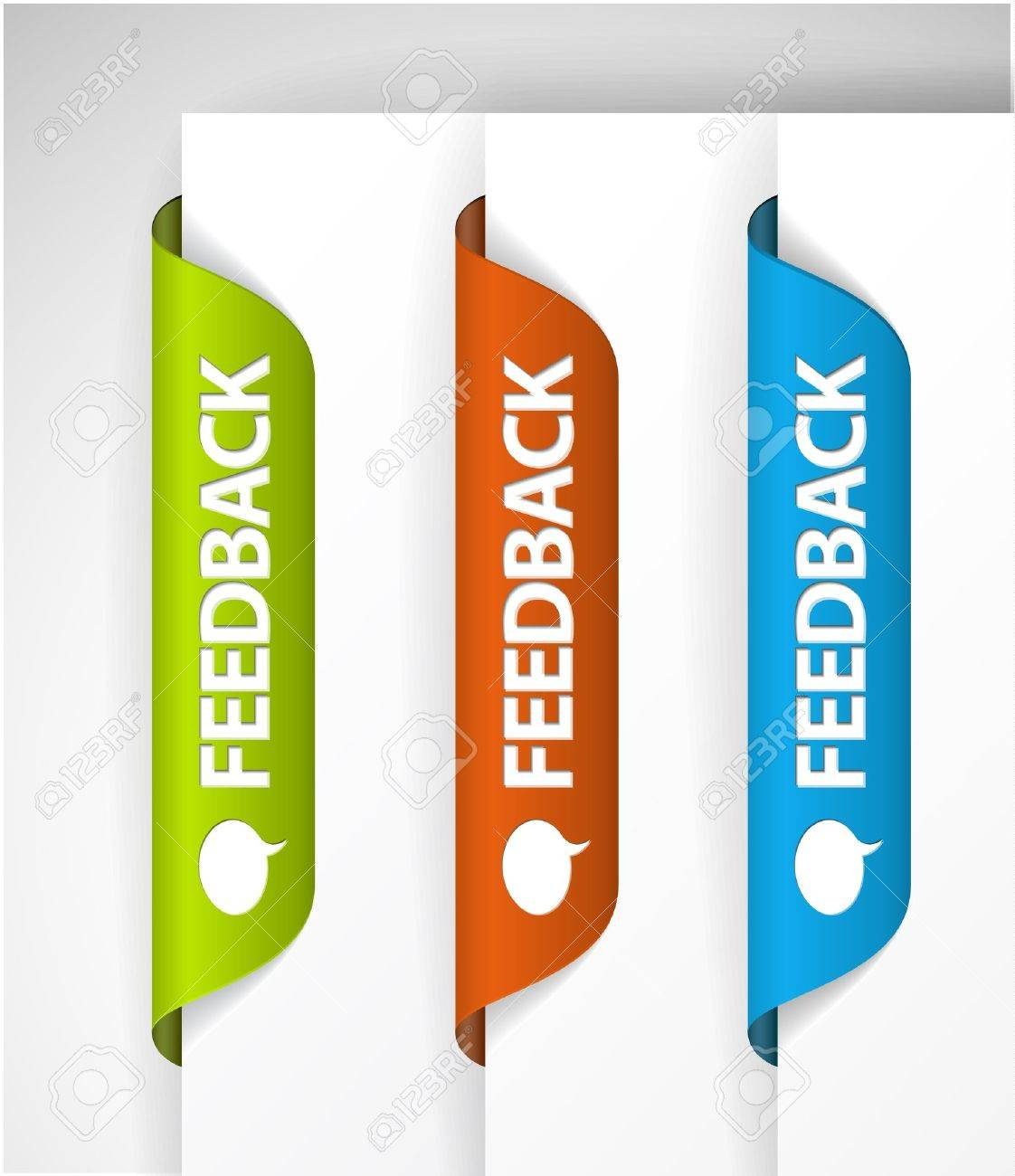 Feedback Labels / Stickers on the edge of the (web) page Stock Vector - 9930962
