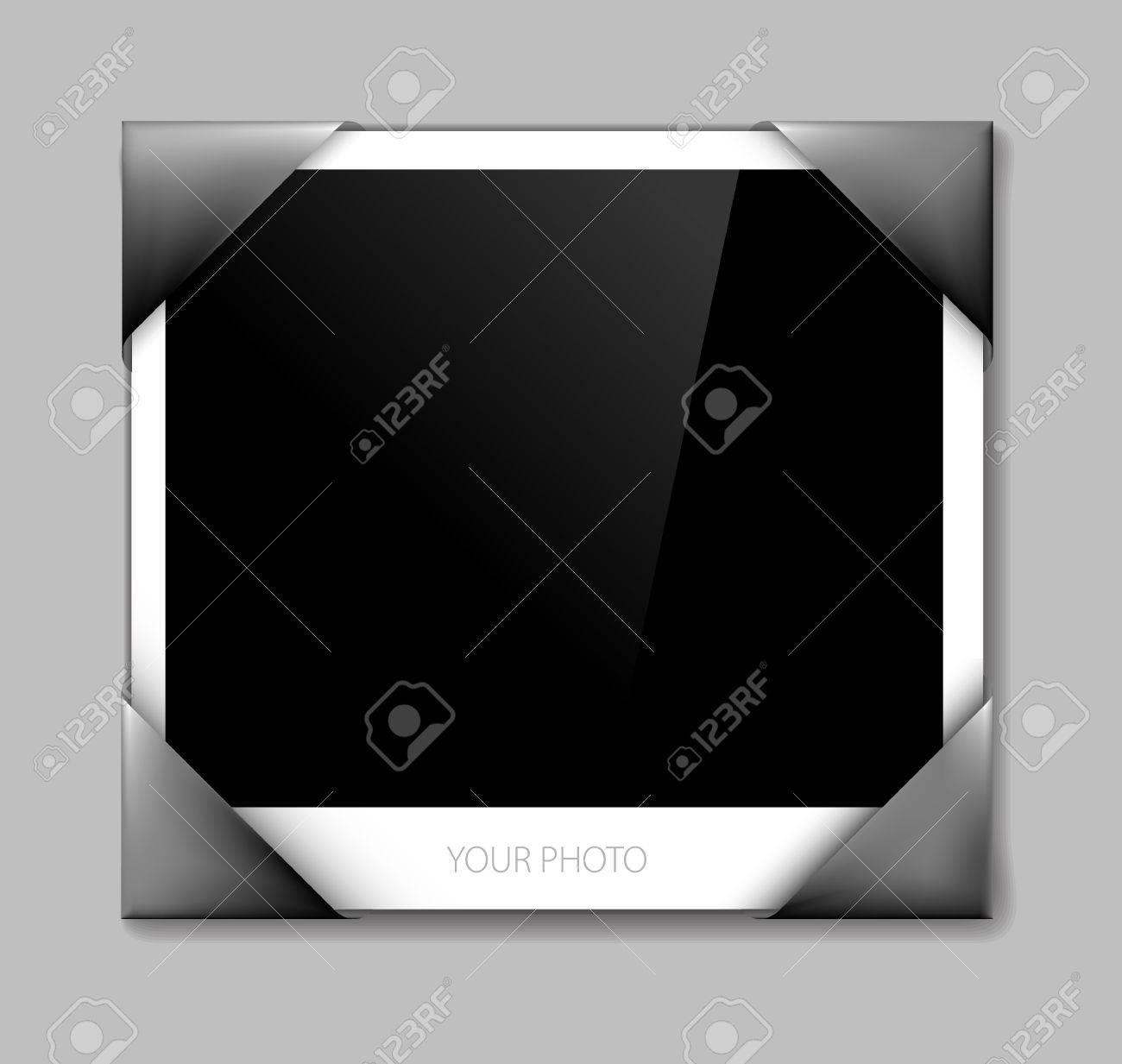 Empty photo in photo holder - vector illustration Stock Vector - 9930946