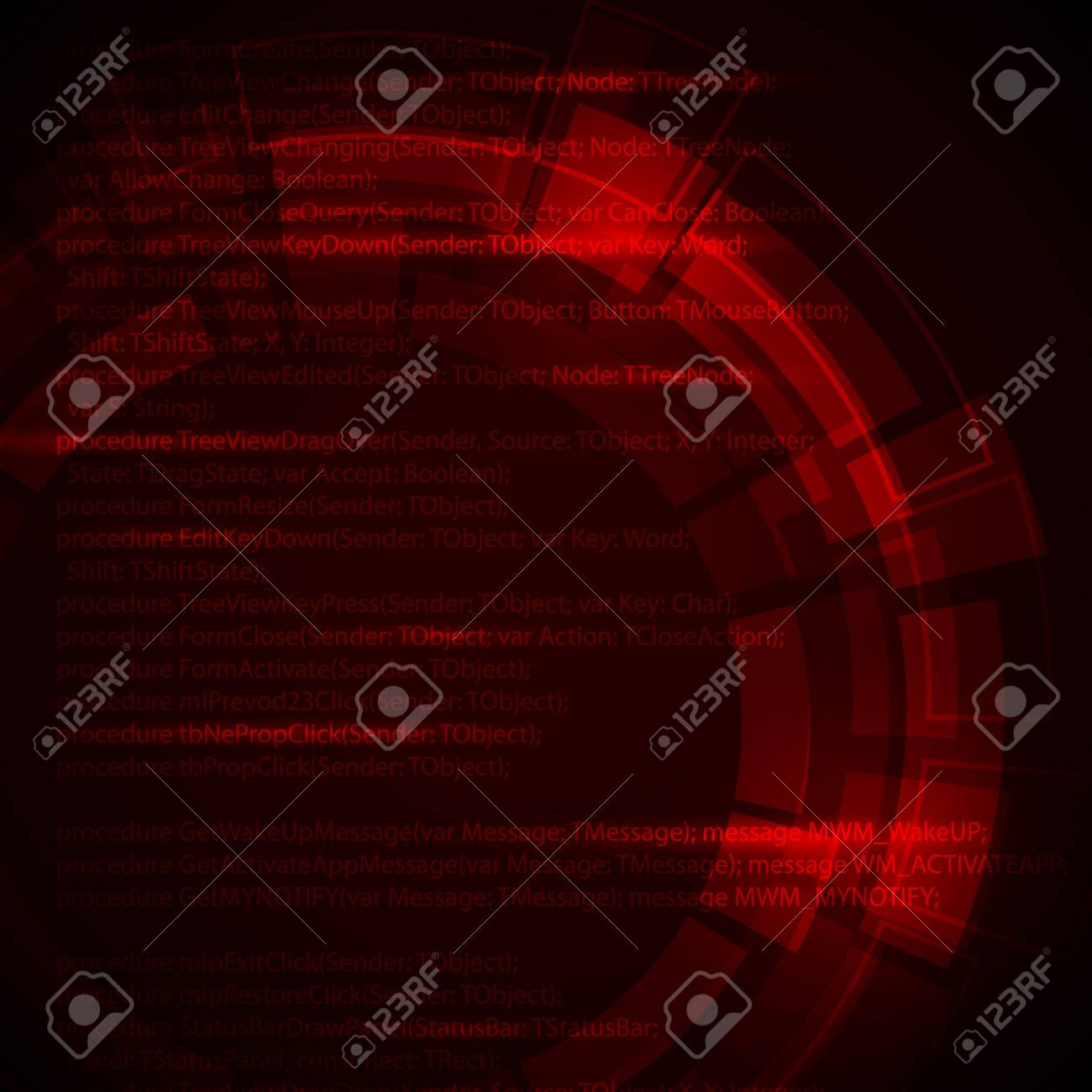 Abstract dark red  technical background with place for your text Stock Vector - 9942173