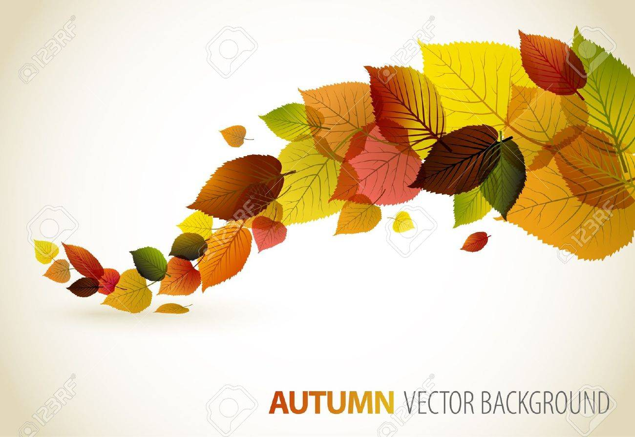 Autumn abstract floral background with place for your text Stock Vector - 10080247