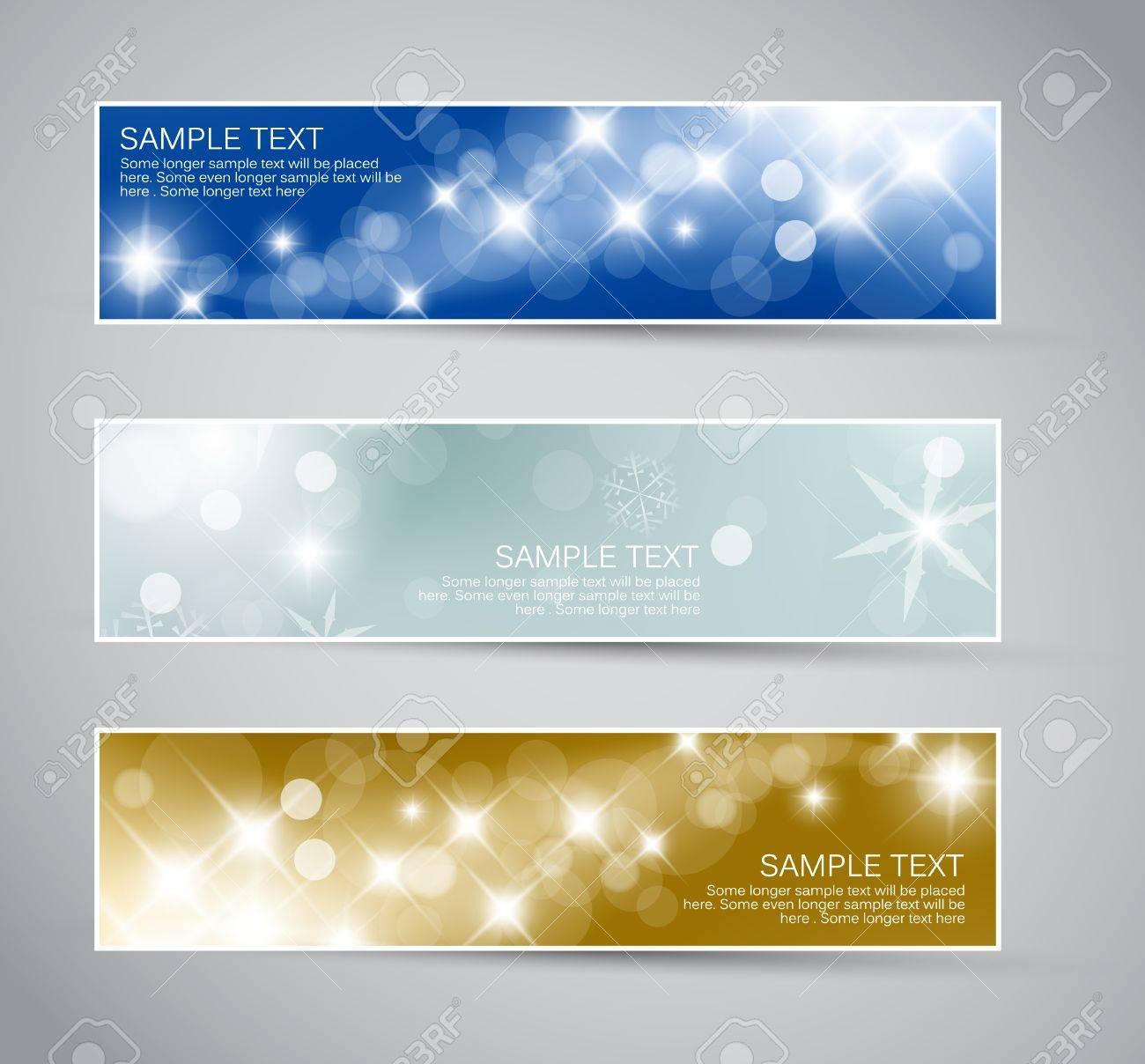 Set of vector christmas / New Year horizontal banners 2012 Stock Vector - 10508808
