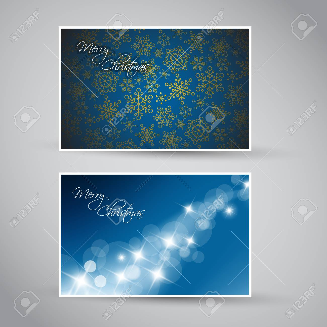 Set of vector christmas / New Year banners (cards) 2012 - blue version Stock Vector - 10508809