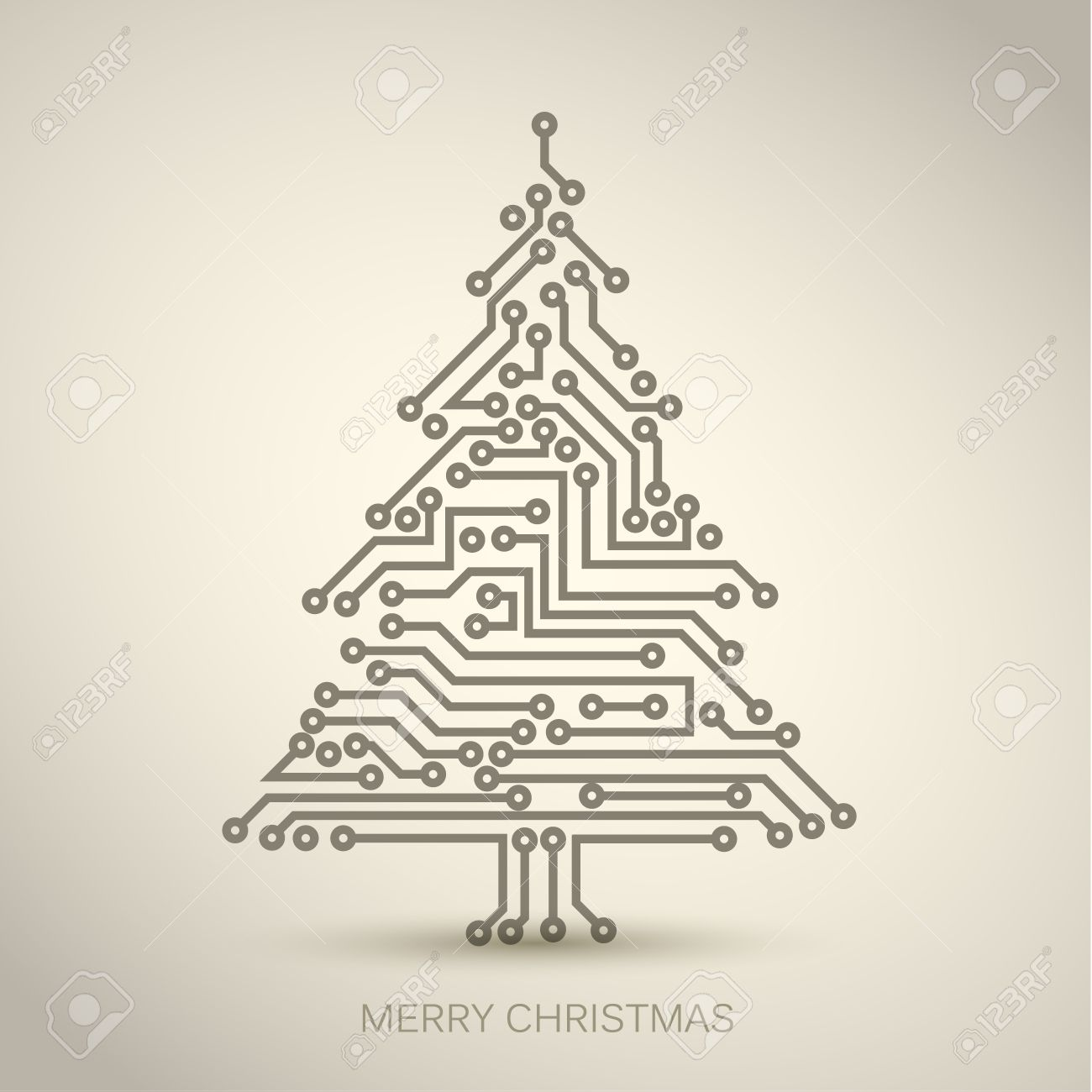 Christmas Tree From Digital Electronic Circuit Royalty Free Cliparts Vectors And Stock Illustration Image 10854635