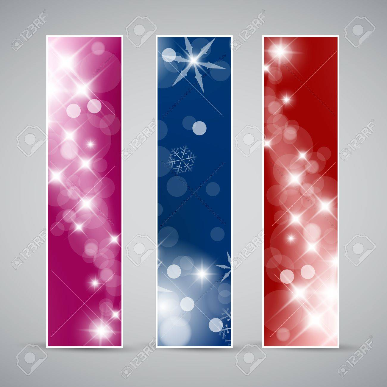 Set of christmas / New Year vertical banners 2012 Stock Vector - 10859539