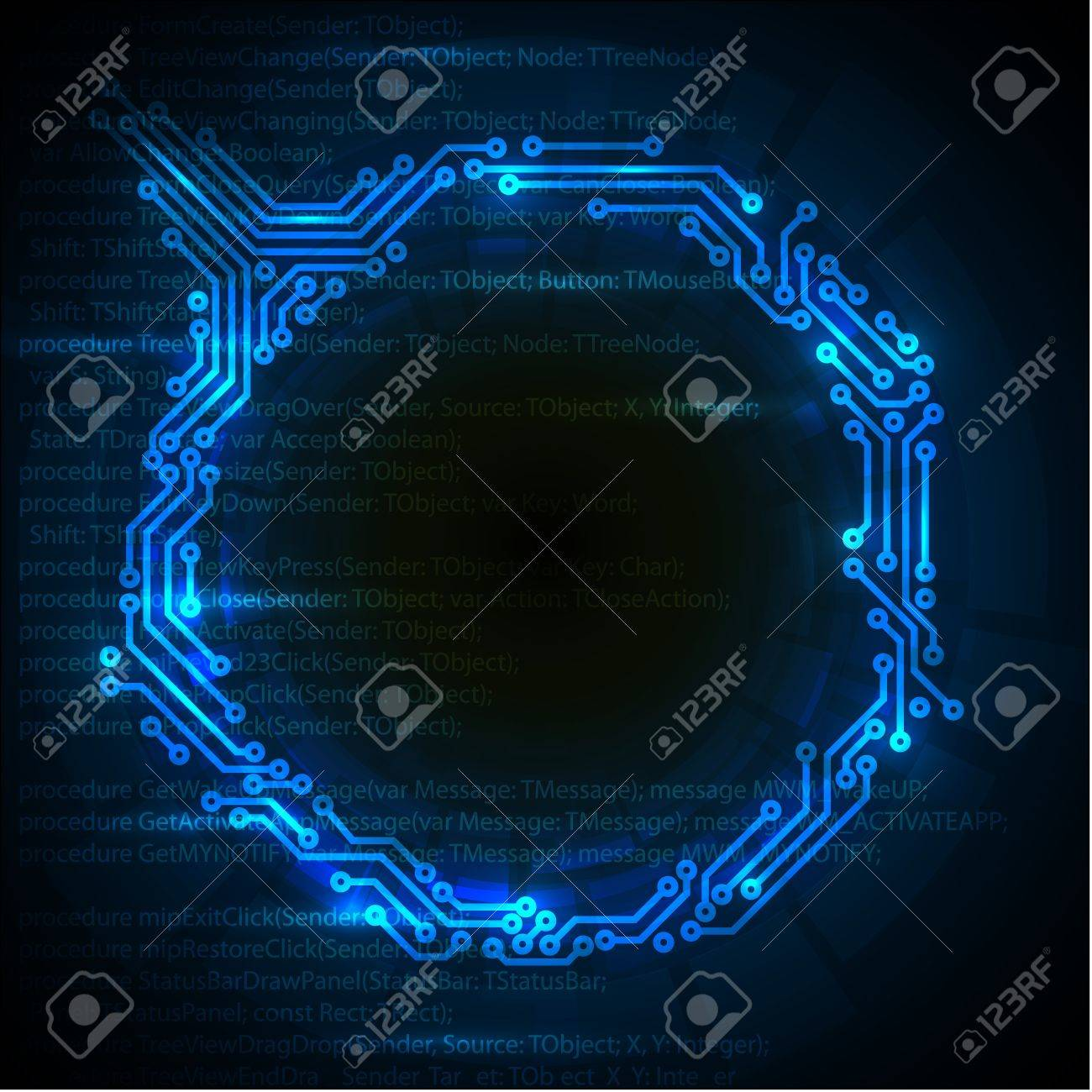 Vector Abstract blue technical background with place for your text Stock Vector - 10952334