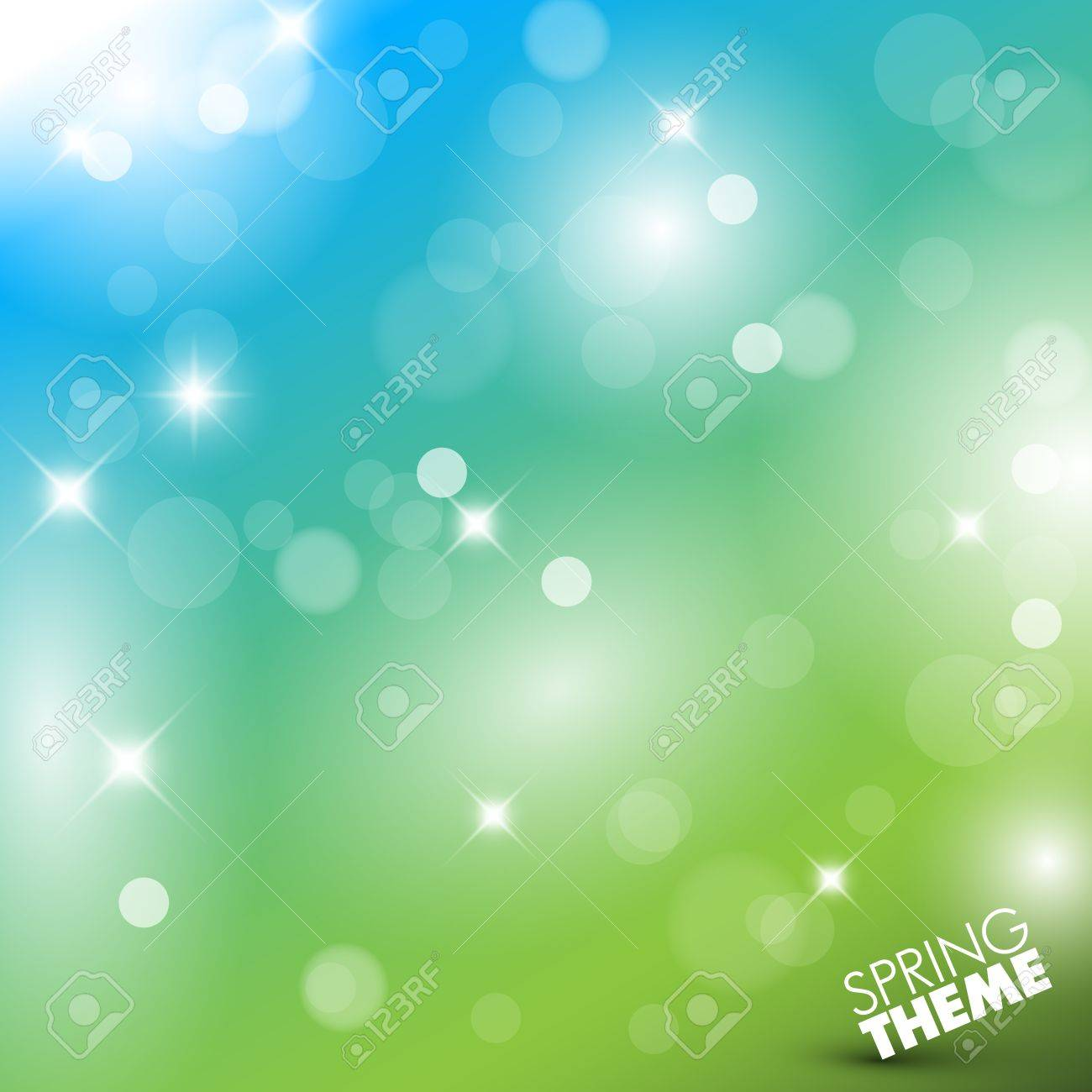 Vector Spring abstract background with place for your text Stock Vector - 11980377