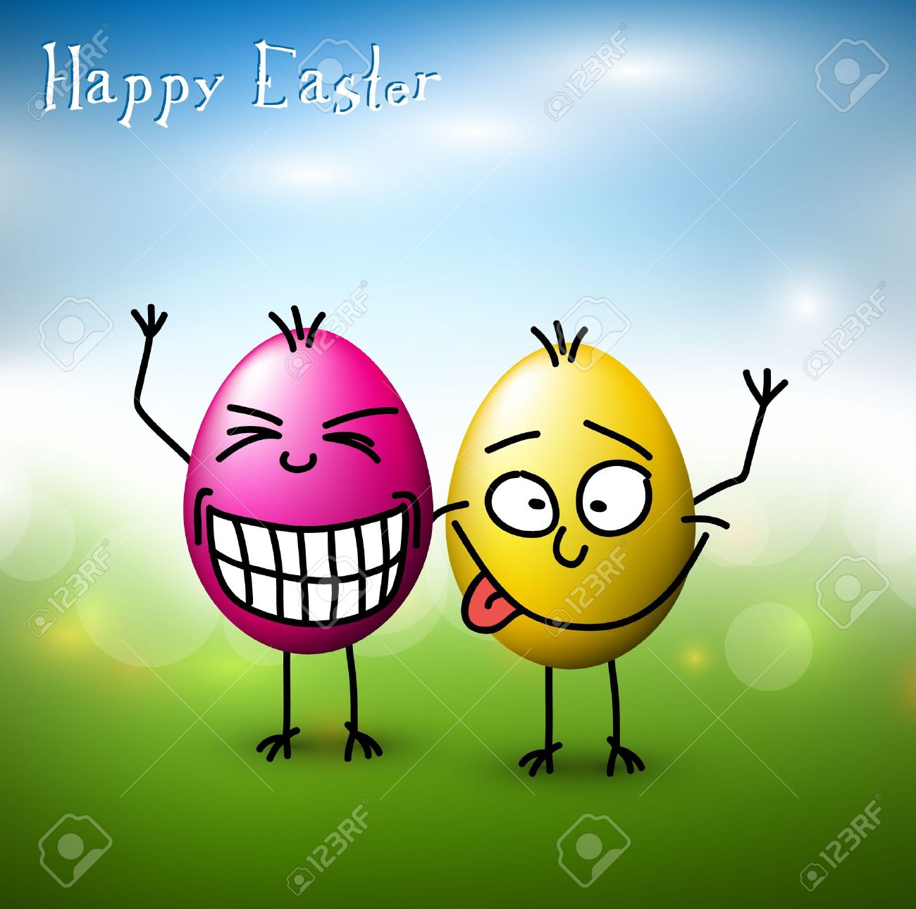 Vector funny colorful easter eggs happy easter card royalty free vector funny colorful easter eggs happy easter card stock vector 12081362 kristyandbryce Choice Image