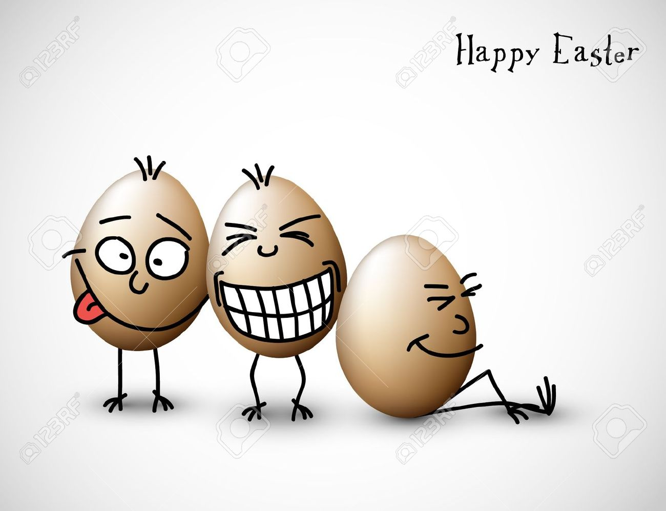 Funny easter eggs happy easter card royalty free cliparts vectors funny easter eggs happy easter card stock vector 12081354 kristyandbryce Choice Image