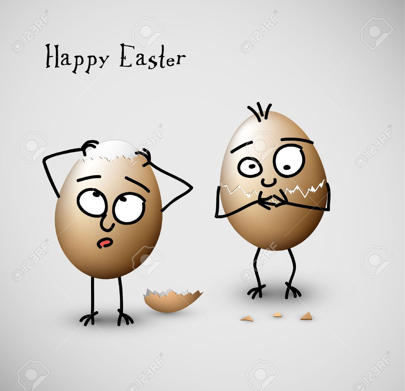 funny easter eggs happy easter vector card royalty free cliparts