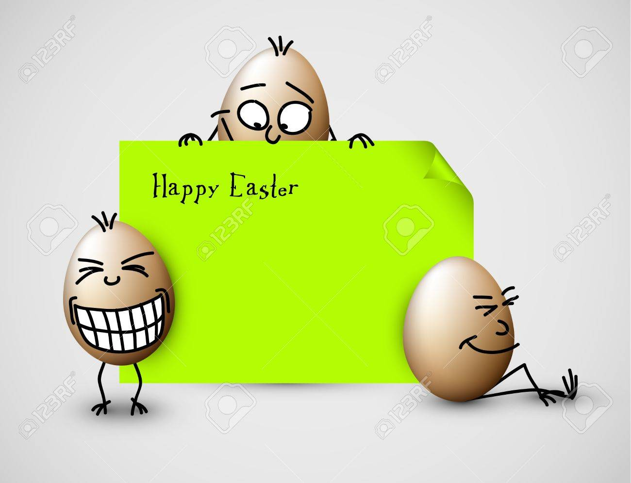Funny vector easter eggs happy green easter card royalty free funny vector easter eggs happy green easter card stock vector 12900199 kristyandbryce Choice Image