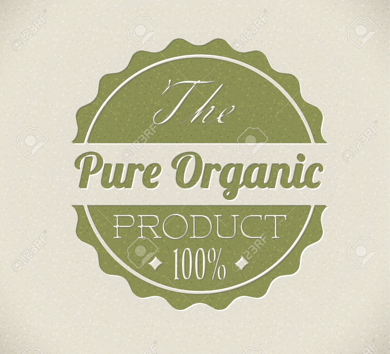 Old vector round retro vintage grunge stamp for bio / organic product Stock Vector - 13129383