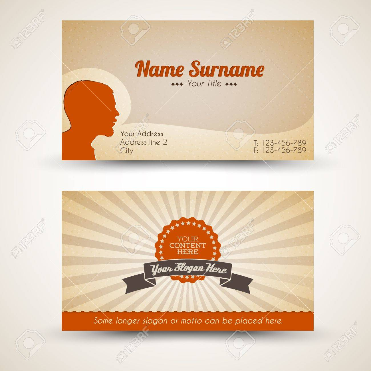 Vector old style retro vintage business card both front and vector vector old style retro vintage business card both front and back side reheart Image collections