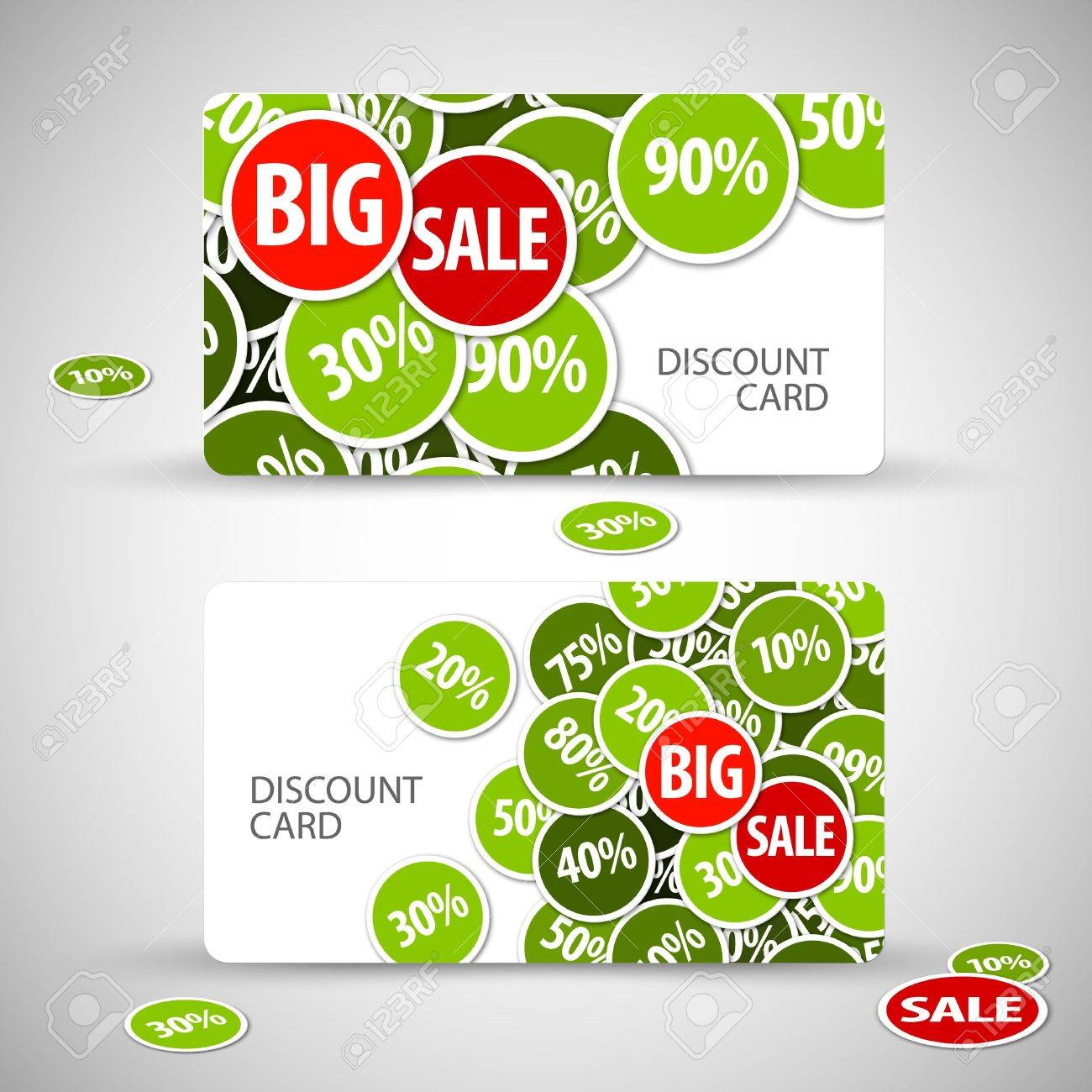 Set of big discount cards - with place for your text Stock Vector - 13205615