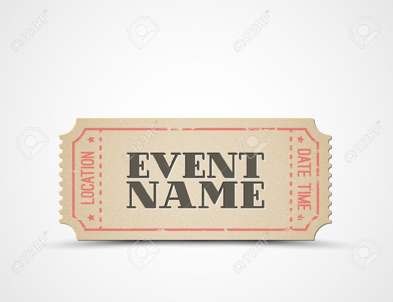 Free Printable Event Tickets Template Ticket Template 91 Free – Prom Ticket Template