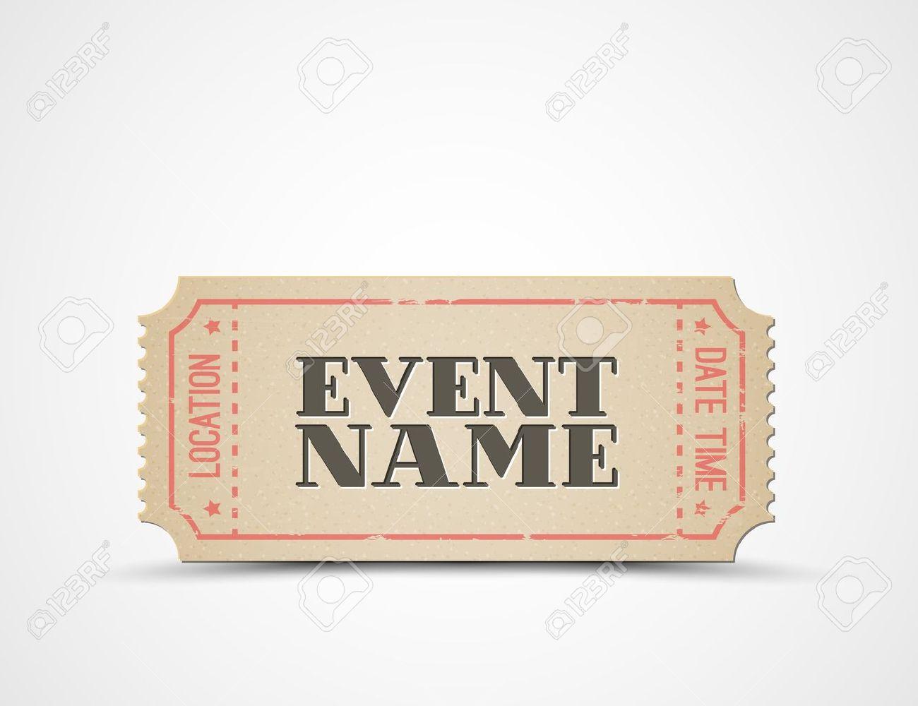 Ticket-Vorlage Für Ihre Veranstaltung - Braun Und Rot Lizenzfrei ...