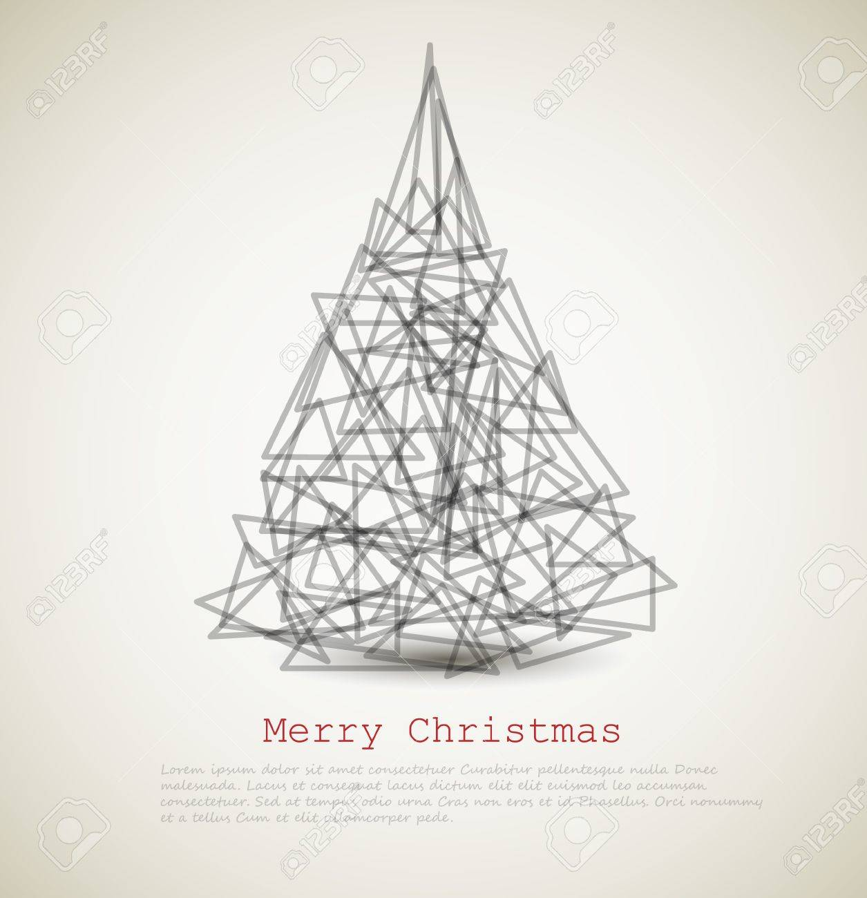 modern card with abstract christmas tree on a light background Stock Vector - 15089561