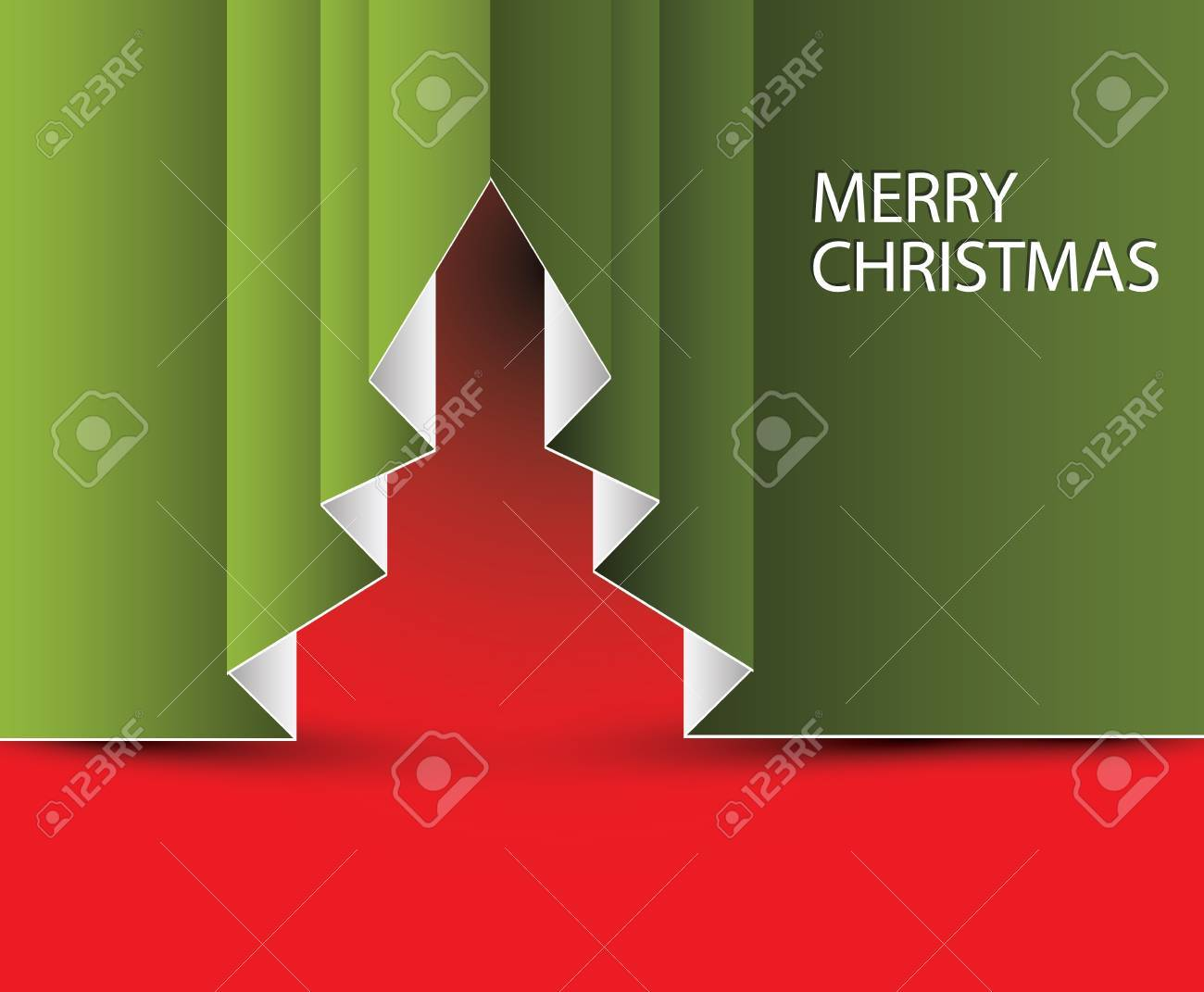 Vector Paper christmas tree - made from folded paper Stock Vector - 15934958