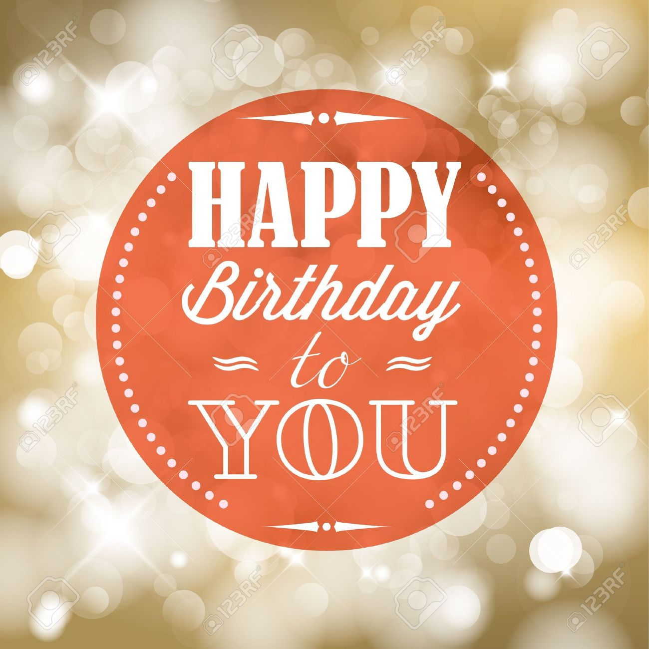 Happy birthday retro vector illustration with lights in background Stock Vector - 19108311