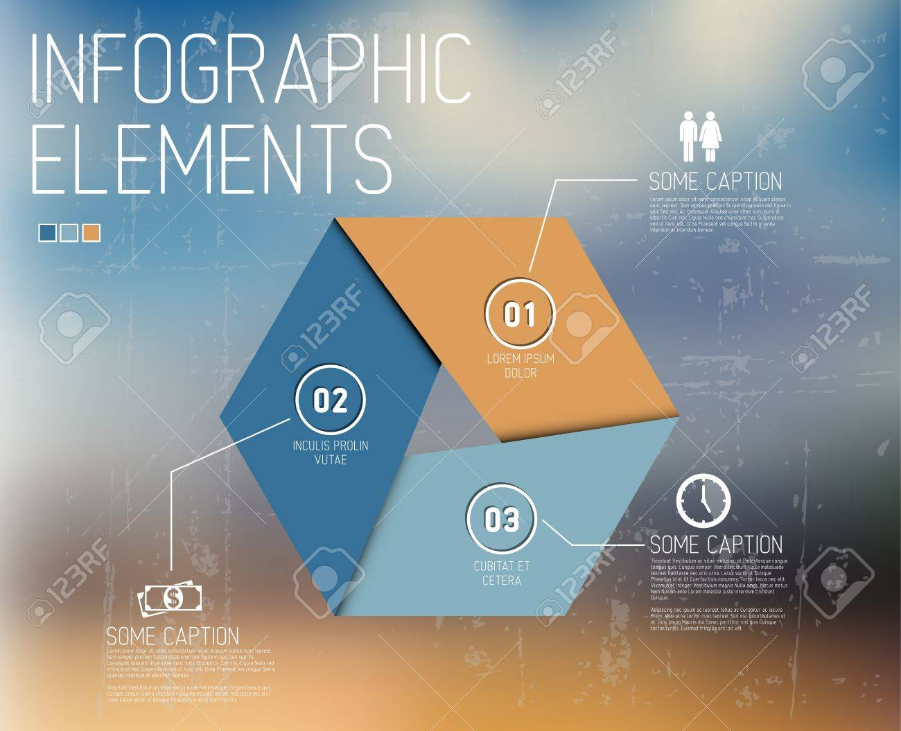 Vector Infographic elements no abstract background Stock Vector - 20171484