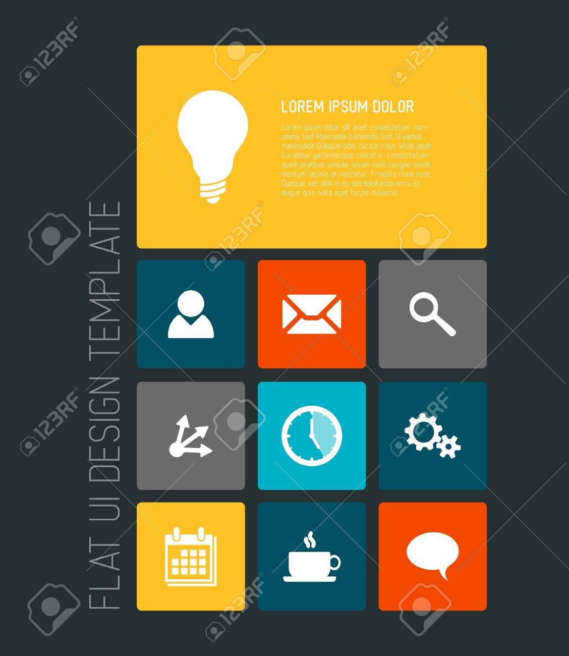 Modern Smartphone Flat User Interface Ui Template Royalty Free