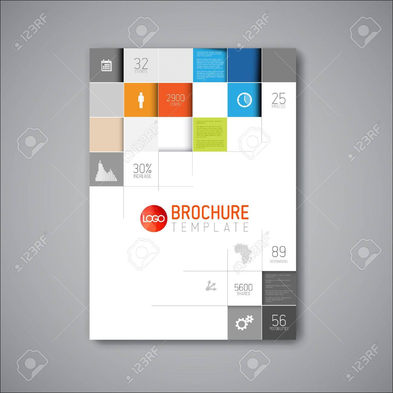 Moderne Vector Abstract Broschüre / Buch / Flyer Design-Vorlage ...