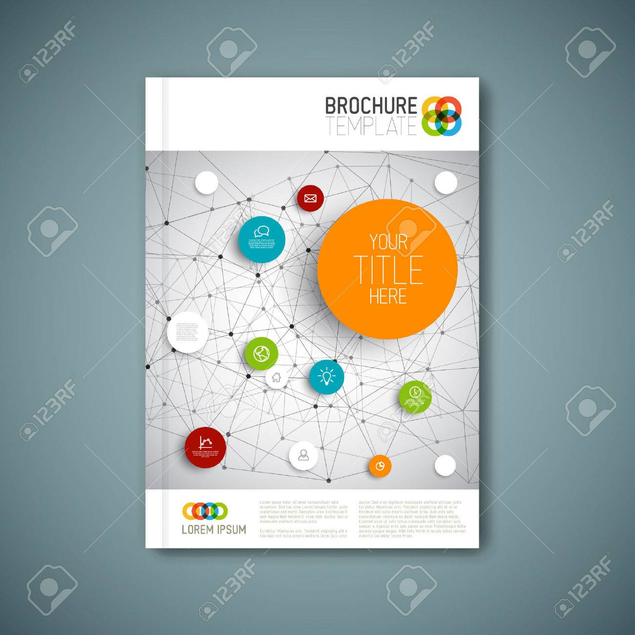 Modern abstract brochure, report or flyer design template - 33019537