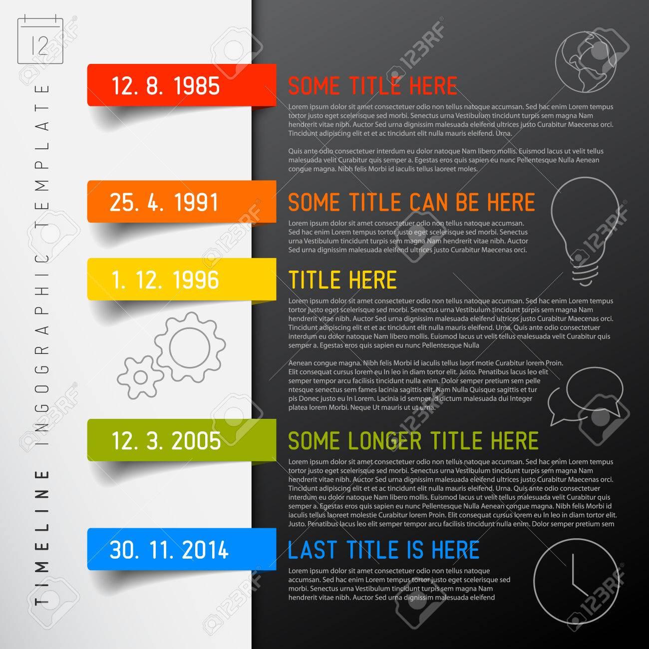 Calendrier Hac.Vector Infographie Calendrier Modele De Rapport Avec Des Icones