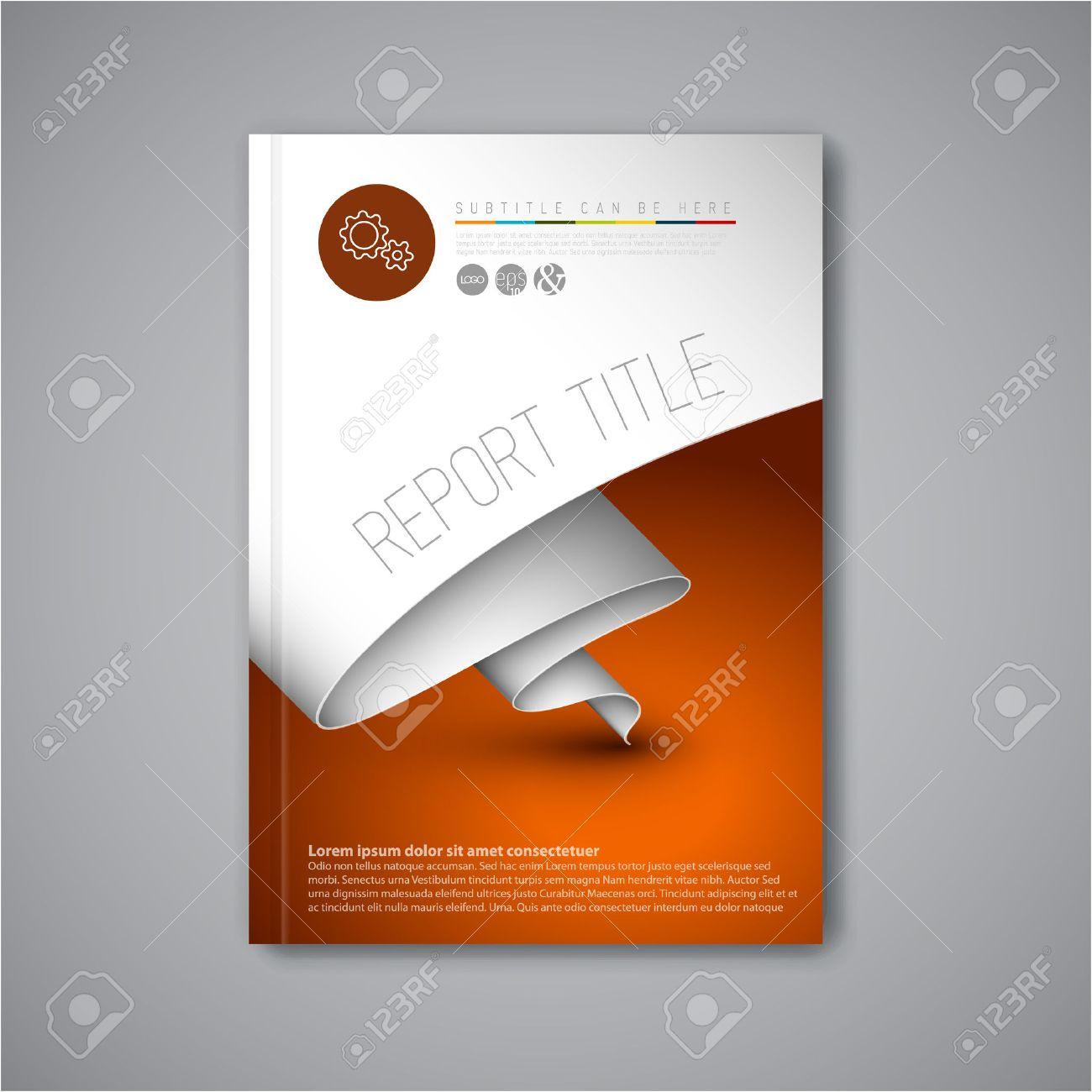 Modern Vector Abstract Brochure Book Flyer Design Template – Paper Design Template