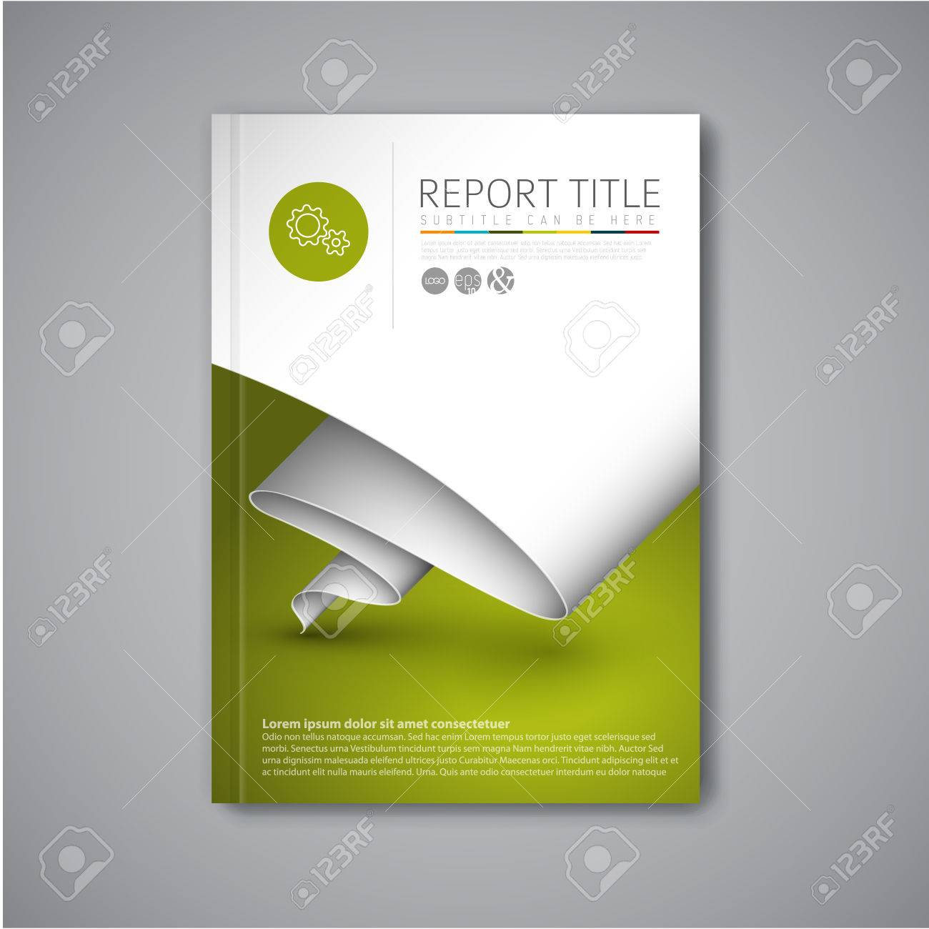 modern vector abstract brochure book flyer design template