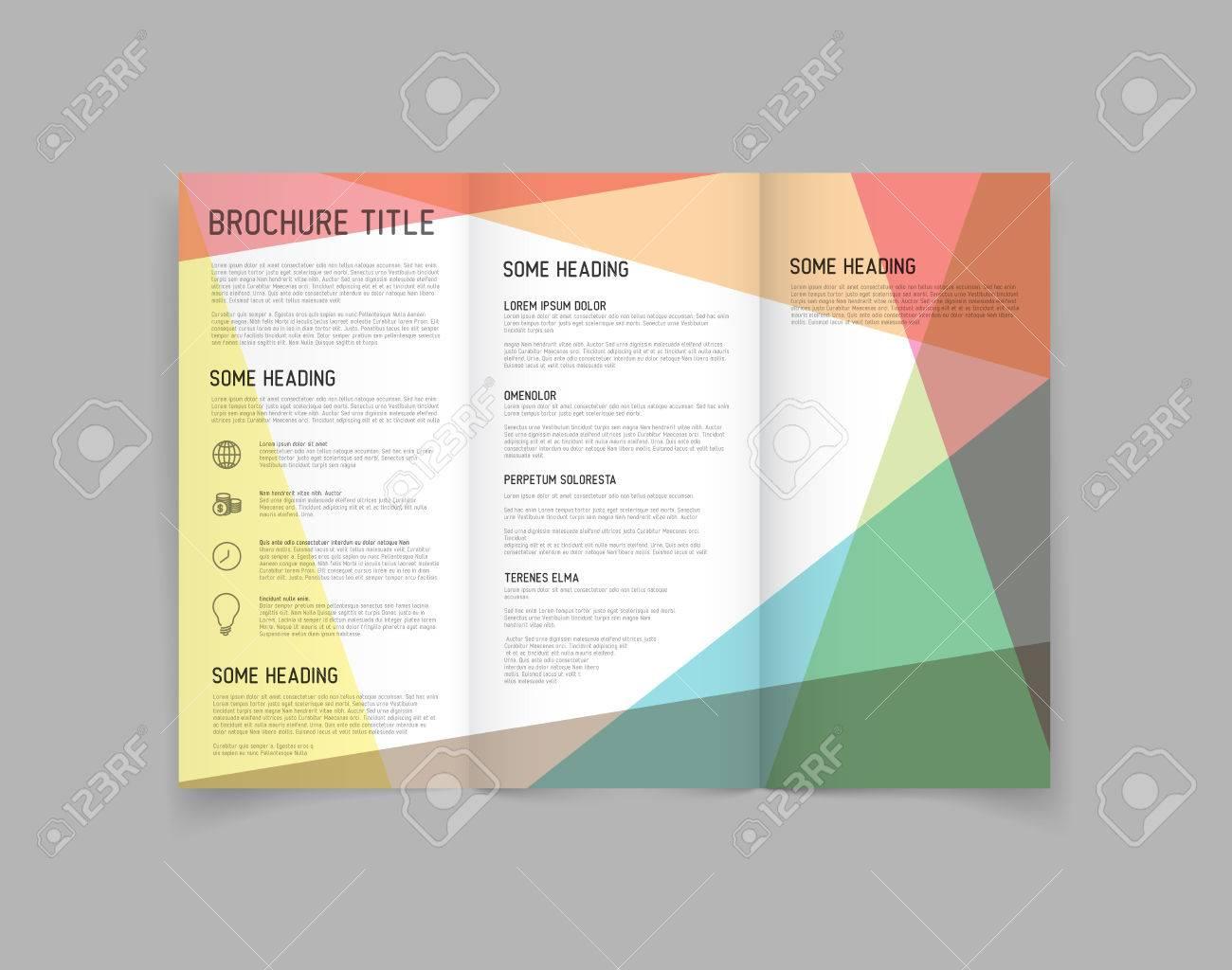 Modern Vector three fold brochure / leaflet / flyer design template