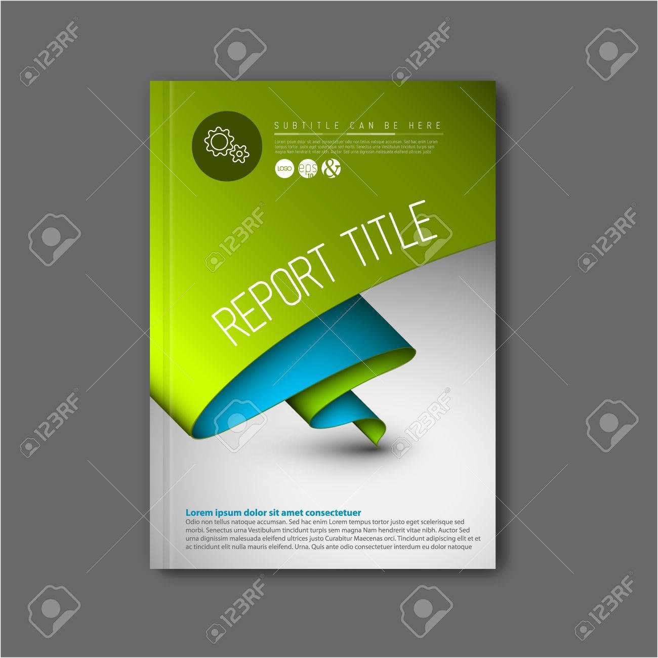 Modern Vector Abstract Brochure / Book / Flyer Design Template ...