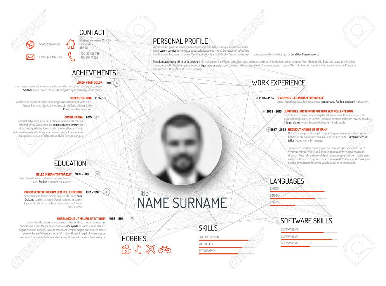 Vector Original Minimalist Cv  Resume Template  Light Black