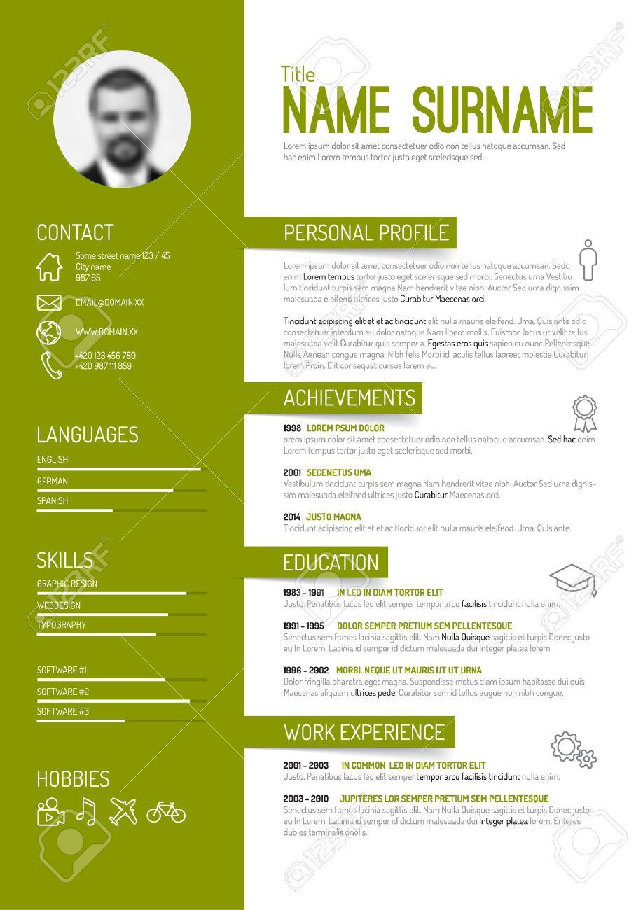 Vector Minimalistischen Cv / Resume-Vorlage - Grüne Version ...