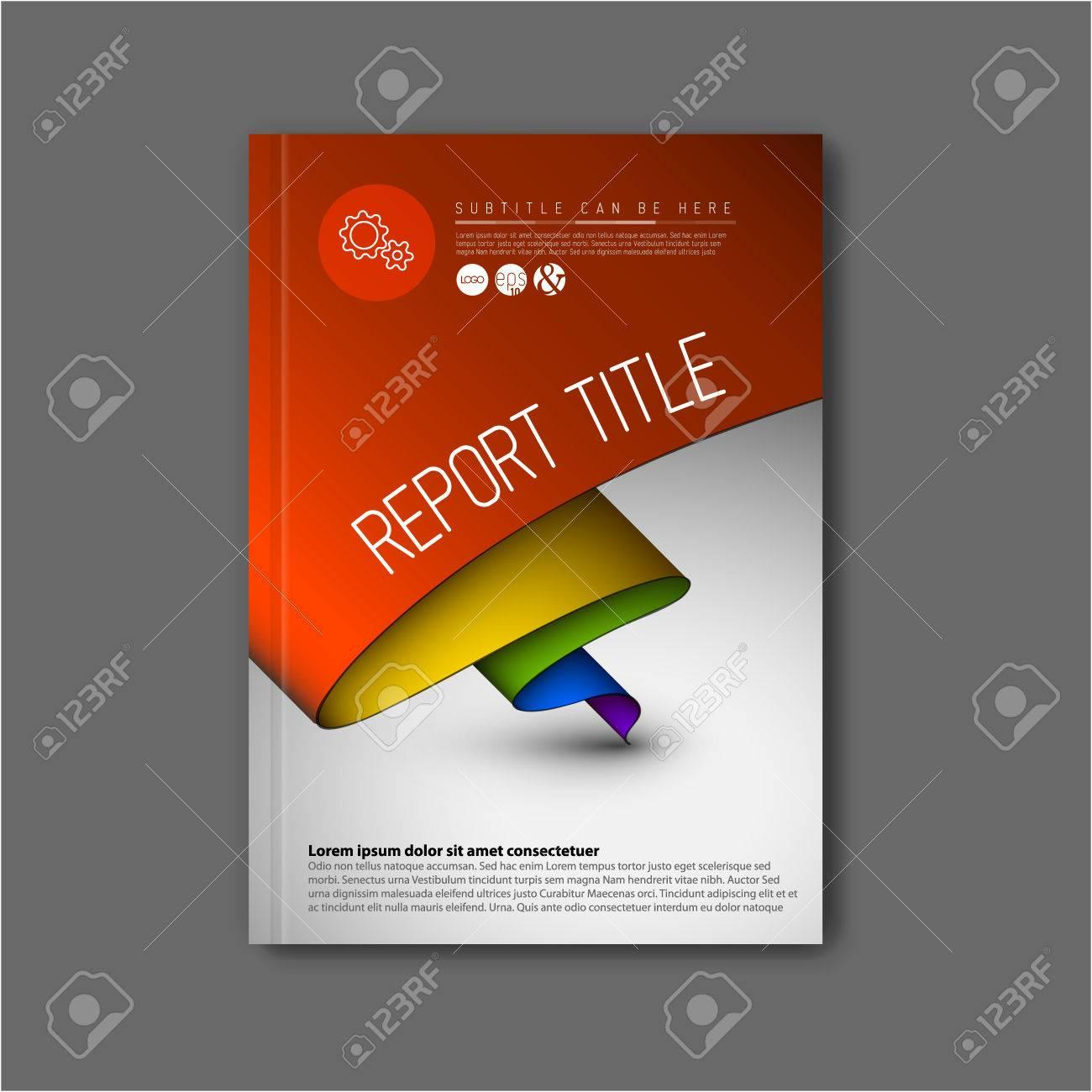 Moderne Vector Abstract Broschüre / Buch / Flyer Design-Vorlage Mit ...