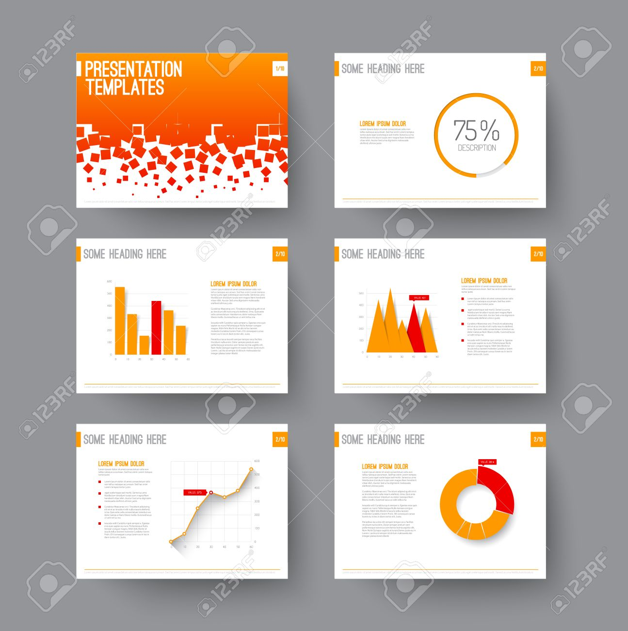 Vector Template For Presentation Slides With Graphs And Charts – Graphs and Charts Templates